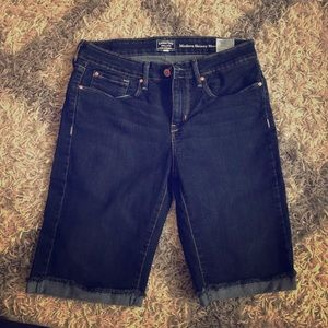 Bermuda type jean shorts